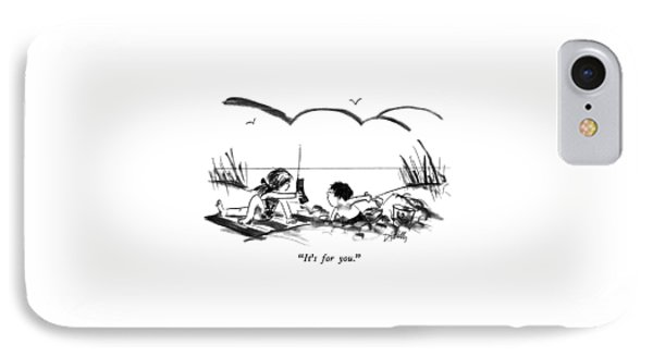 It's For You IPhone Case by Donald Reilly