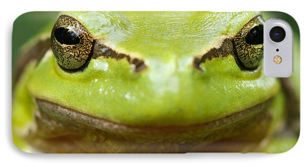 It's Not Easy Being Green _ Tree Frog Portrait IPhone Case by Roeselien Raimond