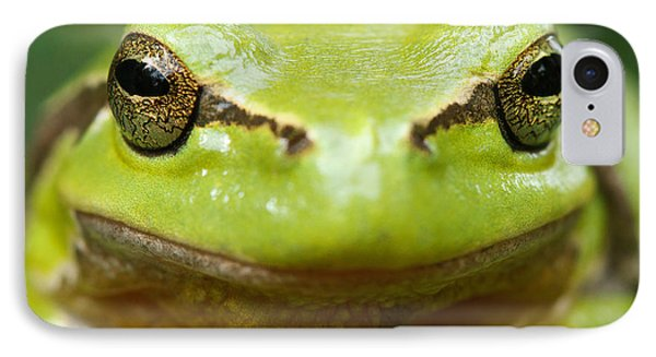 It's Not Easy Being Green _ Tree Frog Portrait IPhone Case