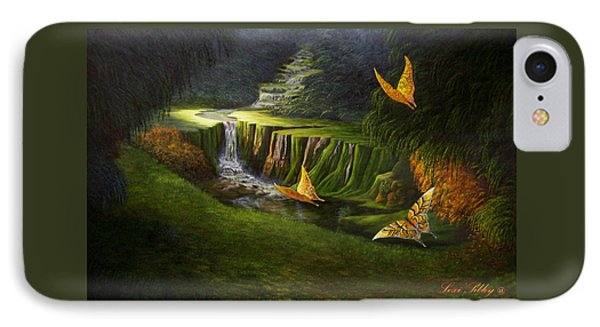 IPhone Case featuring the painting Peaceful by Loxi Sibley