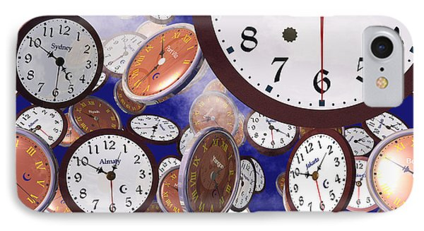 It's Raining Clocks - New York IPhone Case by Nicola Nobile