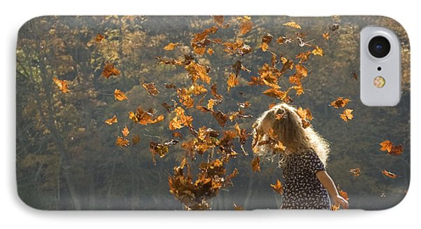 It's Raining Leaves IPhone Case by Carol Lynn Coronios