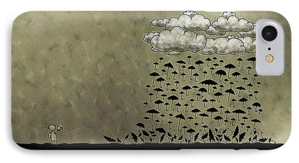It's Raining Umbrellas IPhone Case by Gianfranco Weiss