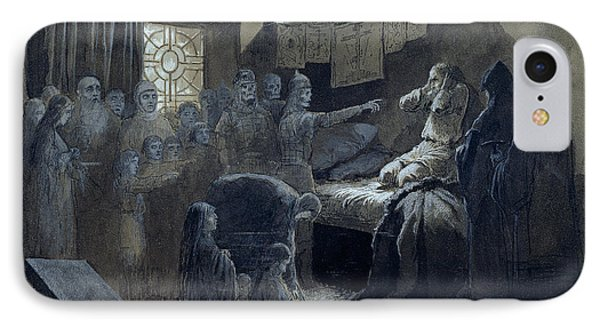 Ivan The Terrible Visited By The Ghosts Of Those He Murdered IPhone Case by Baron Mikhail Petrovich Klodt von Jurgensburg