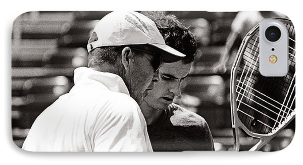 Ivan Lendl And Andy Murray  Phone Case by Nishanth Gopinathan