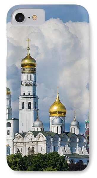 Ivan The Great Bell Tower Of Moscow Kremlin - Featured 3 Phone Case by Alexander Senin