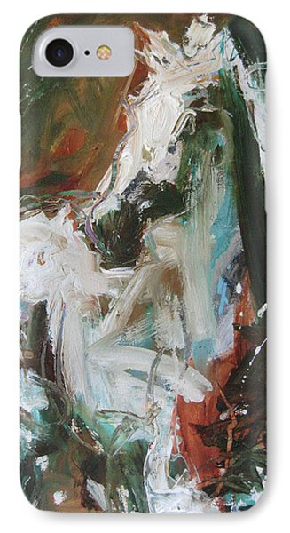 IPhone Case featuring the painting Ivory by Robert Joyner