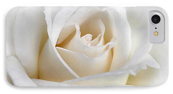Ivory Rose Flower Phone Case by Jennie Marie Schell