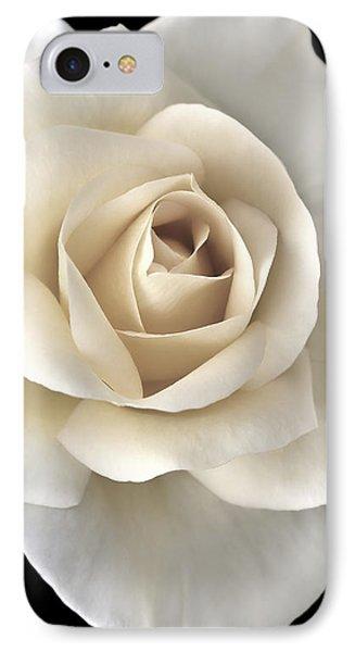 Ivory Rose Flower Portrait Phone Case by Jennie Marie Schell