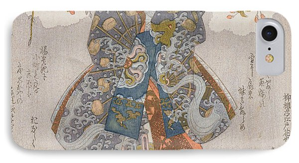 Iwai Kumesaburo II As A Courtesan IPhone Case by Utagawa Kunisada