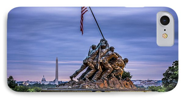 Iwo Jima Monument IPhone Case by David Morefield
