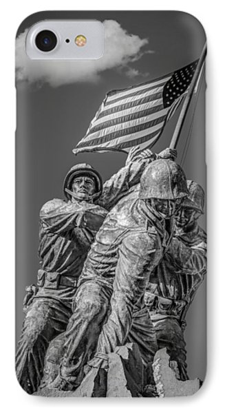 Iwo Jima United States Marine Corps Bw IPhone Case