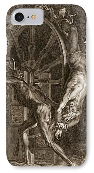 Ixion In Tartarus On The Wheel, 1731 IPhone Case by Bernard Picart