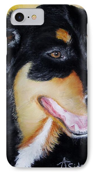 IPhone Case featuring the painting Izzy by Annamarie Sidella-Felts