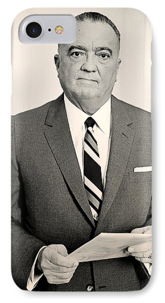J Edgar Hoover 1961 IPhone Case by Mountain Dreams