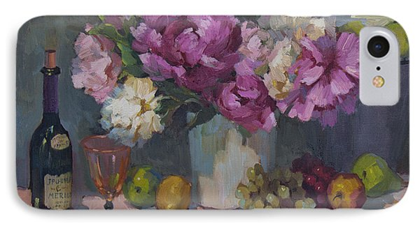 J. P. Chenet And Peonies Phone Case by Diane McClary