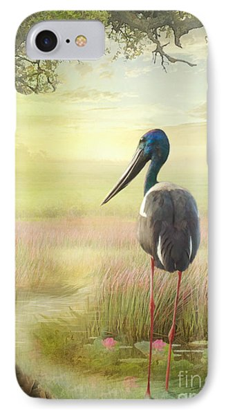 Jabiru Dreaming IPhone Case by Trudi Simmonds
