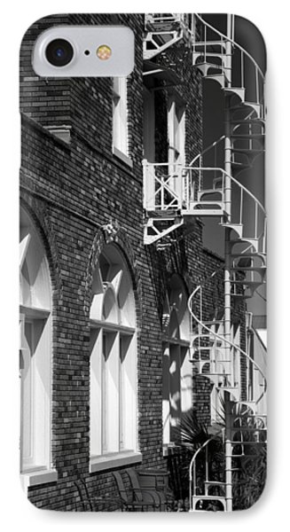 Jacaranda Hotel Fire Escape IPhone Case by Beverly Stapleton