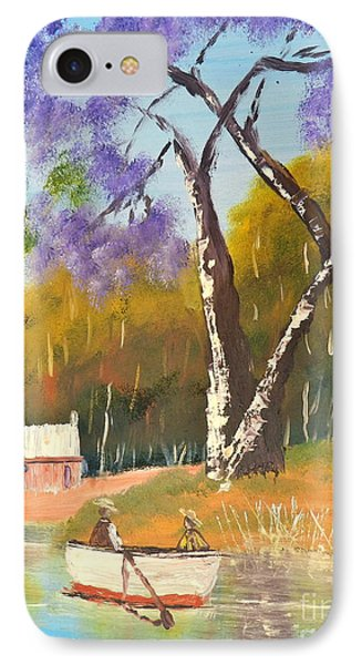 IPhone Case featuring the painting Jacaranda Tree by Pamela  Meredith