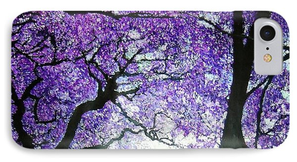 Jacarandas By The River IPhone Case by Marie-Line Vasseur