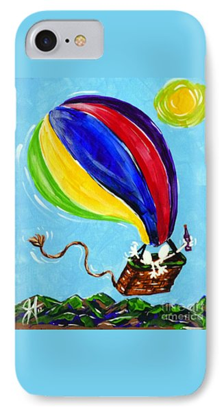 IPhone Case featuring the painting Jack And Charlie Fly Away by Jackie Carpenter