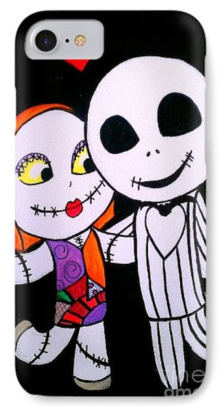 Jack And Sally IPhone Case by Marisela Mungia