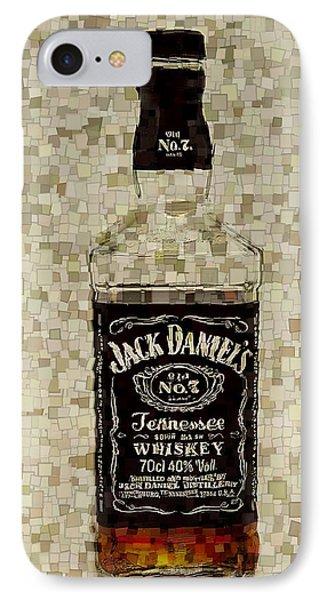 Jack Daniel's Cubism IPhone Case by Dan Sproul