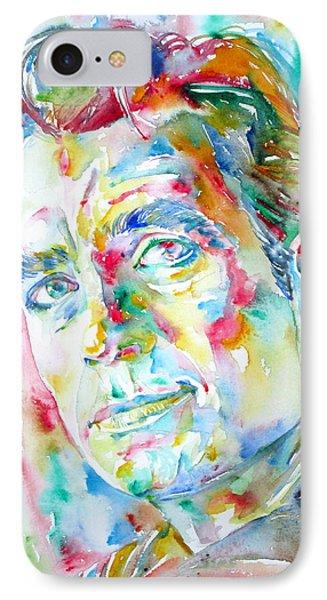 Jack Kerouac Portrait.1 Phone Case by Fabrizio Cassetta