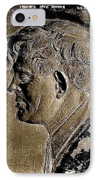 Jack London Bas Relief No Known Date-2013 IPhone Case by David Lee Guss