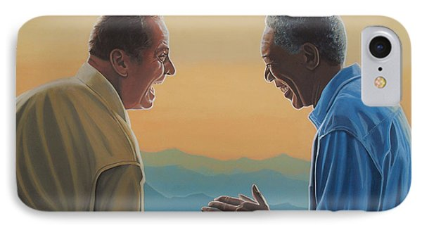 Jack Nicholson And Morgan Freeman IPhone Case by Paul Meijering
