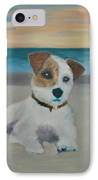 IPhone Case featuring the painting Jack On The Beach by Kristen R Kennedy
