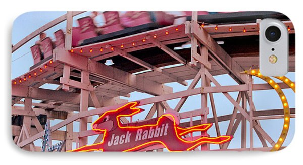Jack Rabbit Coaster Kennywood Park IPhone Case by Jim Zahniser