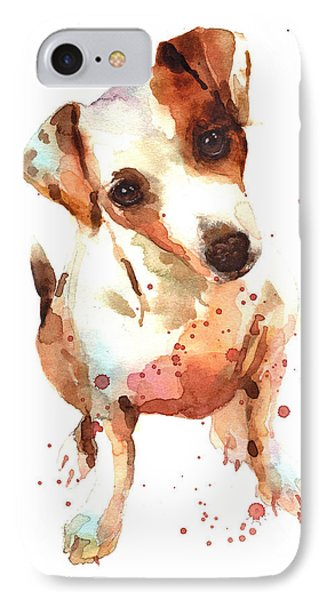 Jack Russell Painting IPhone Case by Alison Fennell
