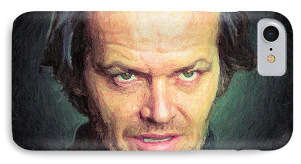 Jack Torrance IPhone 7 Case by Taylan Apukovska