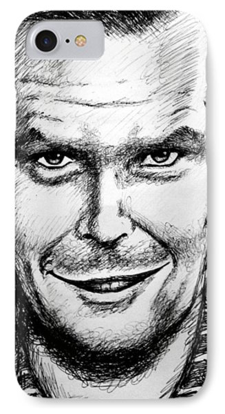 Jack Nicholson #2 IPhone Case by Salman Ravish