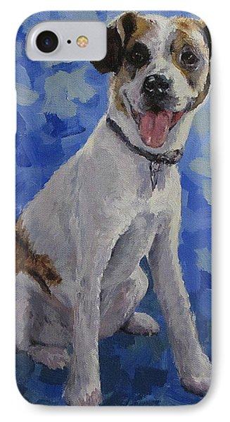 Jackaroo - A Pet Portrait Phone Case by Karen Ilari