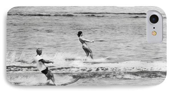 Jackie & John Glenn Water Ski Phone Case by Underwood Archives