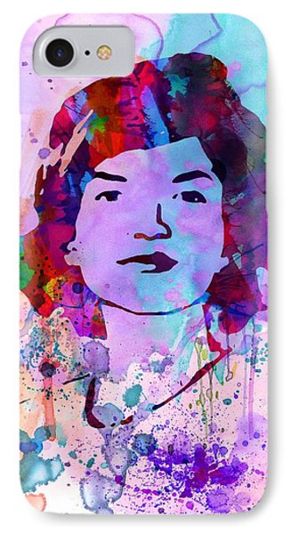 Jackie Kennedy Watercolor IPhone Case