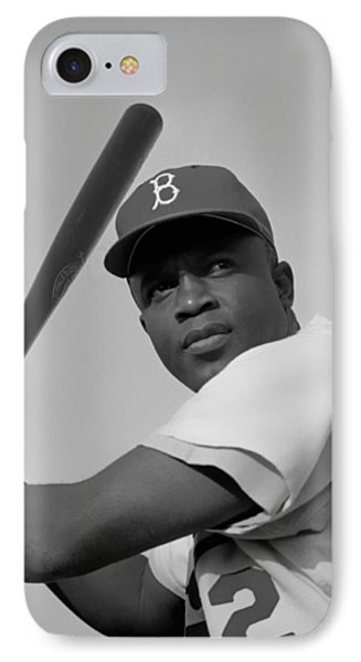 Jackie Robinson - 1954 IPhone Case by Mountain Dreams
