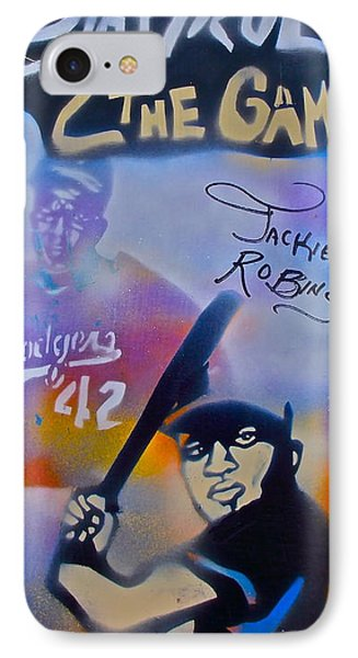 Jackie Robinson Blue Phone Case by Tony B Conscious