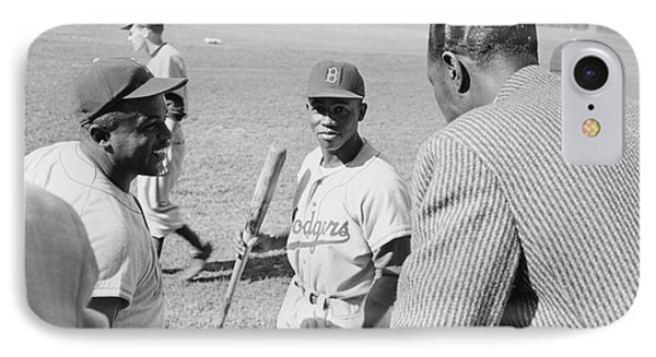 Jackie Robinson Hank Aaron And Nat King Cole IPhone Case by The Harrington Collection