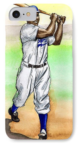 Jackie Robinson Phone Case by Mel Thompson