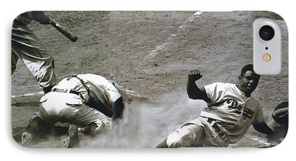 Jackie Robinson Sliding Home IPhone Case