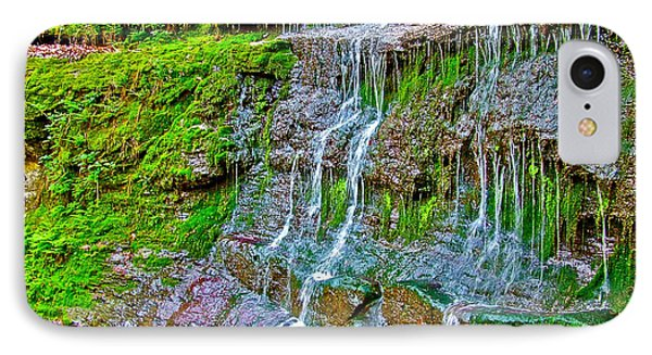 Jackson Falls At Mile 405 Natchez Trace Parkway-tennessee Phone Case by Ruth Hager