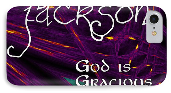 Jackson - God Is Gracious Phone Case by Christopher Gaston