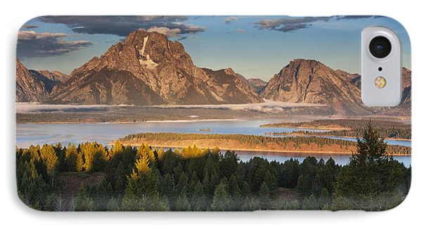 Jackson Lake Morning IPhone Case by Mark Kiver