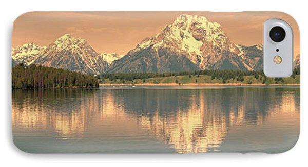 Jackson Lake Sunrise - Grand Teton Phone Case by Sandra Bronstein