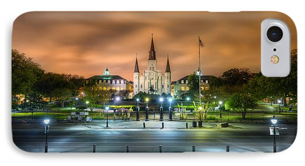 Jackson Square At Night IPhone Case by Tim Stanley