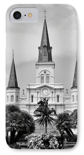 Jackson Square In Black And White Phone Case by Bill Cannon