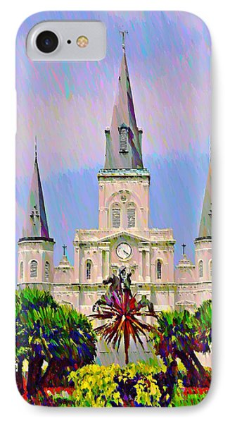 Jackson Square In The French Quarter Phone Case by Bill Cannon